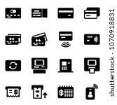solid vector icon set   credit... | Shutterstock .eps vector #1070918831