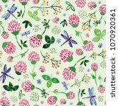 seamless pattern with... | Shutterstock . vector #1070920361