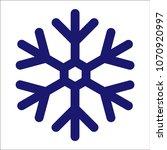 vector flat snowflake icon | Shutterstock .eps vector #1070920997