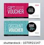 gift voucher template design... | Shutterstock .eps vector #1070921147