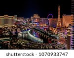 panoramic aerial view of las... | Shutterstock . vector #1070933747