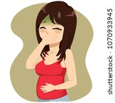 young beautiful pregnant woman...   Shutterstock .eps vector #1070933945