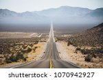 classic highway scene in the... | Shutterstock . vector #1070942927