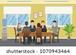 business people meeting in... | Shutterstock .eps vector #1070943464