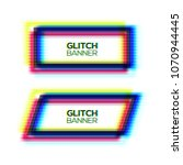 abstract glitch texture square... | Shutterstock .eps vector #1070944445