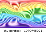 rainbow illusion  rainbow flag... | Shutterstock .eps vector #1070945021