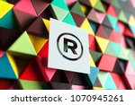 paper   sign on the triangle... | Shutterstock . vector #1070945261