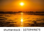 sunset in the danube delta... | Shutterstock . vector #1070949875