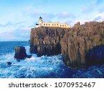 the neist point lighthouse on... | Shutterstock . vector #1070952467