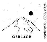 gerlach. vector black and white ... | Shutterstock .eps vector #1070954525