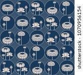 seamless vector blue japanese... | Shutterstock .eps vector #1070956154