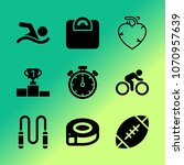 vector icon set about fitness... | Shutterstock .eps vector #1070957639