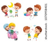 vector illustration of kids... | Shutterstock .eps vector #1070958401