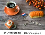 traditional food for dutch... | Shutterstock . vector #1070961137