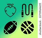 vector icon set about fitness... | Shutterstock .eps vector #1070964635