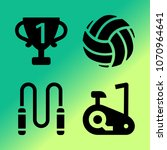 vector icon set about fitness... | Shutterstock .eps vector #1070964641