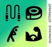 vector icon set about fitness... | Shutterstock .eps vector #1070964665