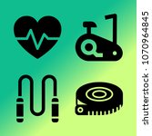 vector icon set about fitness... | Shutterstock .eps vector #1070964845