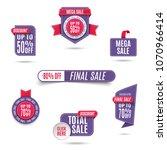 set of ultra violet banner... | Shutterstock .eps vector #1070966414