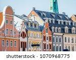 multi colored building facade... | Shutterstock . vector #1070968775