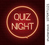 pub quiz announcement poster ... | Shutterstock .eps vector #1070971121