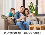 family  pregnancy and... | Shutterstock . vector #1070972864