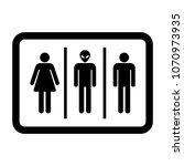 bathroom sign for woman  man... | Shutterstock .eps vector #1070973935
