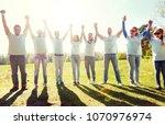 volunteering  charity and... | Shutterstock . vector #1070976974
