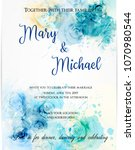 invitation wedding template ... | Shutterstock .eps vector #1070980544