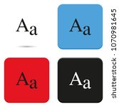 font size flat vector icon. | Shutterstock .eps vector #1070981645