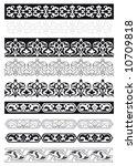 traditional turkish border | Shutterstock .eps vector #10709818