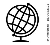 symbolic image of geographical... | Shutterstock .eps vector #1070983121