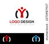 m letter multi color logo... | Shutterstock .eps vector #1070987927