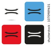set of ribbons flat vector icon. | Shutterstock .eps vector #1070989631