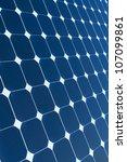 Background of Blue Solar Panel - stock photo