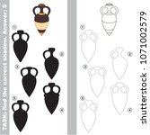 clay ancient amphora set to...   Shutterstock .eps vector #1071002579