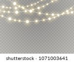 christmas lights isolated on...   Shutterstock .eps vector #1071003641
