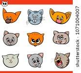 cartoon illustration of funny... | Shutterstock .eps vector #1071004007