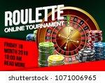 illustration online poker... | Shutterstock .eps vector #1071006965