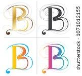 letters b alphabet font design... | Shutterstock .eps vector #1071012155
