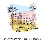 medina susa. tunisia. north... | Shutterstock .eps vector #1071015029