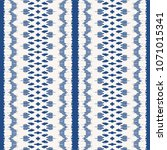 ikat seamless pattern. vector... | Shutterstock .eps vector #1071015341