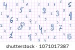 the pattern of hand drawn... | Shutterstock .eps vector #1071017387