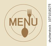 menu round icon with stylized... | Shutterstock .eps vector #1071018275