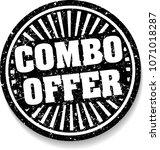 combo offer black rubber stamp... | Shutterstock .eps vector #1071018287