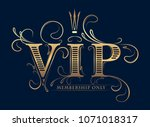 rich decorated vip membership... | Shutterstock .eps vector #1071018317