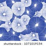 hand drawn seamless vector... | Shutterstock .eps vector #1071019154
