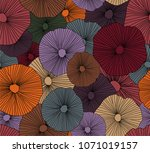 abstract ethnic pattern in boho ... | Shutterstock .eps vector #1071019157