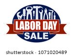 labor day sale banner with... | Shutterstock .eps vector #1071020489