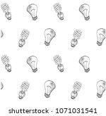 seamless compact fluorescent... | Shutterstock .eps vector #1071031541